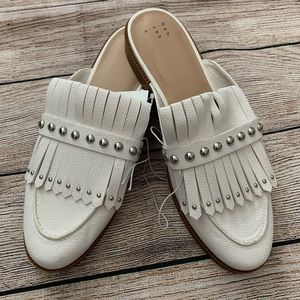 A new day white backless loafer mules